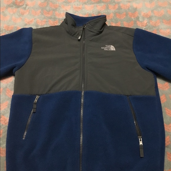 e2c90989b North Face Boys 14/16 Denali Jacket Blue Large